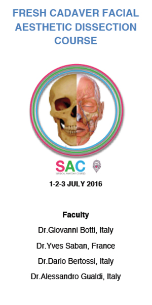 FRESH CADAVER FACIAL AESTHETIC DISSECTION COURSE